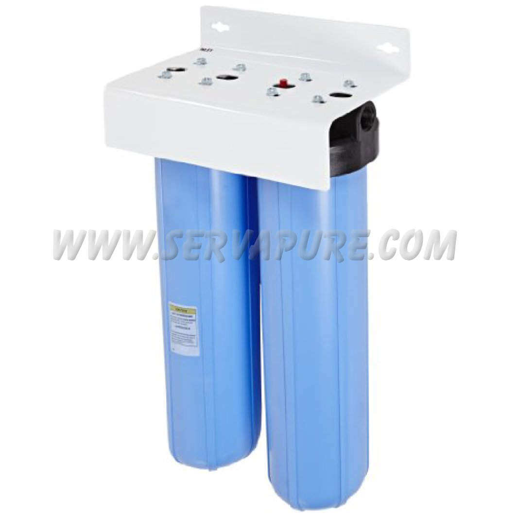 Big Water Filter Systems Pentek Bbfs 22 Two Big Blue Housing Water Filtration System 160166