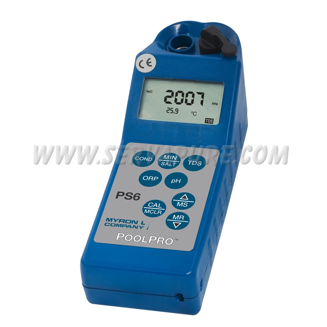Ph And Conductivity Meter : Myron l ps fce poolpro conductivity mineral salt