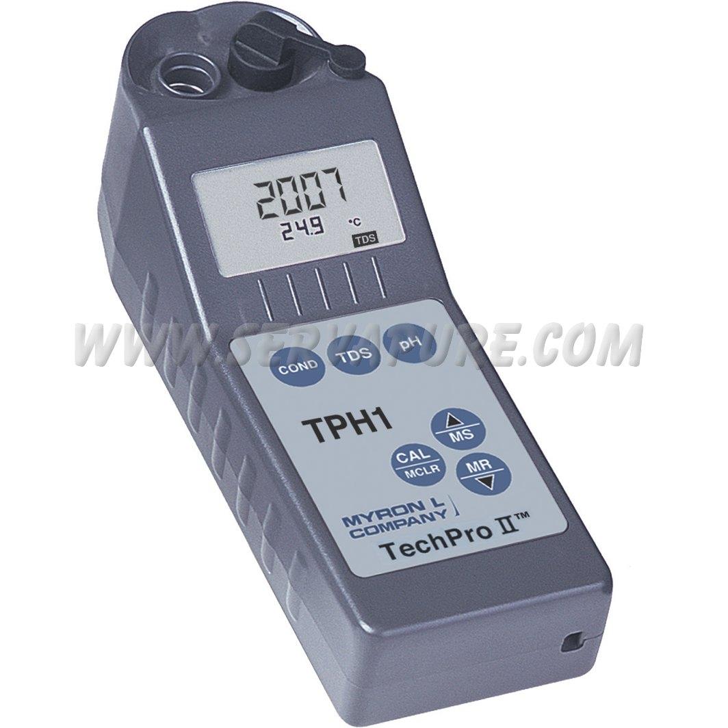 Digital Conductivity Meter : Myronl tph conductivity tds ph temperature techpro ii