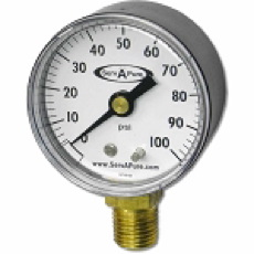 Pressure Gauge, 3023006-SAP, 0 - 100 psi, 1/4