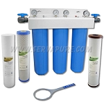 Serv-A-Pure 731252, 20'' Big Blue Chloramine, Sediment, Taste & Odor Removal Water Filter System