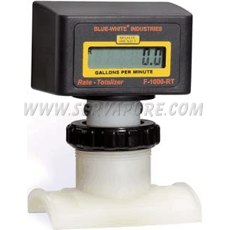Blue-White RT-110P6-LPM1, 350 to 3500 LPM, 110mm IPS Pipe Size Paddlewheel Flowmeter, F-1000 Series