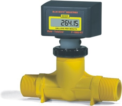 Blue-White RB-200FI-LPM3, 40 to 400 LPM, 2'' MNPT Paddlewheel Flowmeter, F-1000 Series