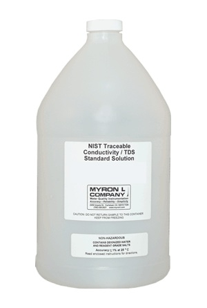 Myron L NaCl-14.0 Conductivity/TDS Standard Solution, Gallon Bottle (128 Oz)