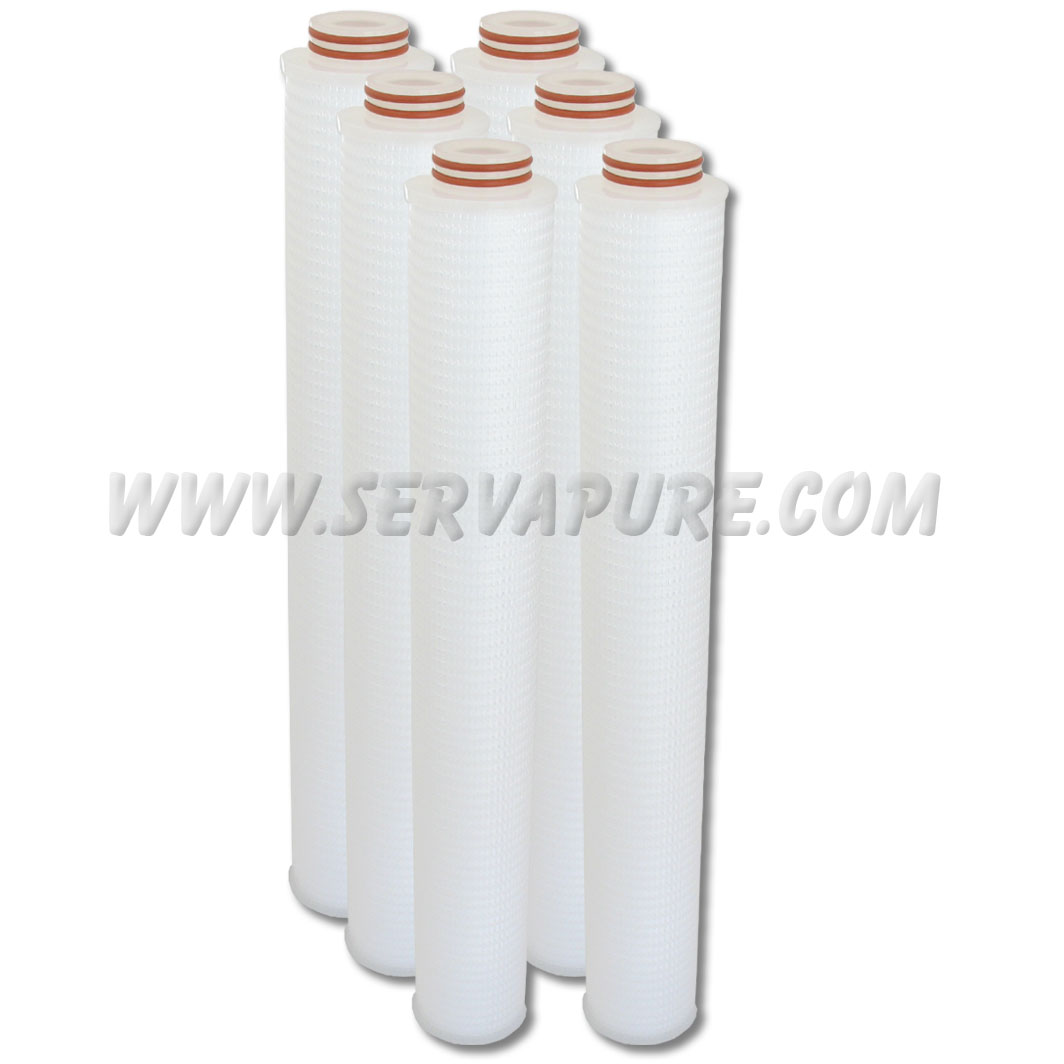 EMD Millipore CR0502006, Polygard-CR Cartridge Filter 20 in. 5.0 µm Code 0 Silicone, 6 Pack
