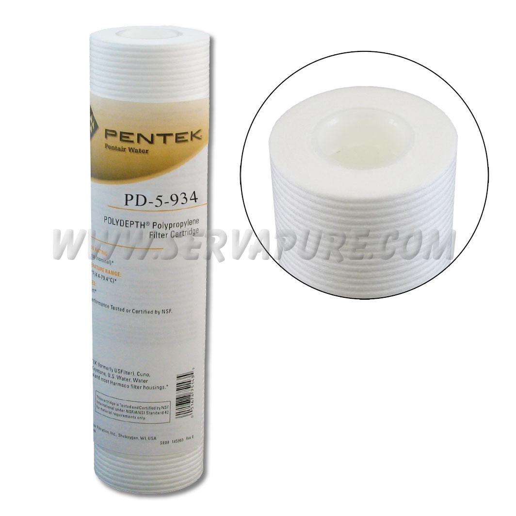 Pentek 155749, PD-5-934 Polydepth Filter, 2.5'' x 9-3/4'', 5 Microns