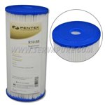 Pentek 155053, R50-BB Pleated Polyester, 4-1/2'' x 10'', 50 Microns