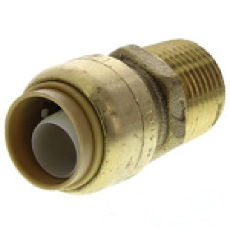 Pex Fitting, 1/2'' Sharkbite x 1/2'' MNPT Connector, Lead Free