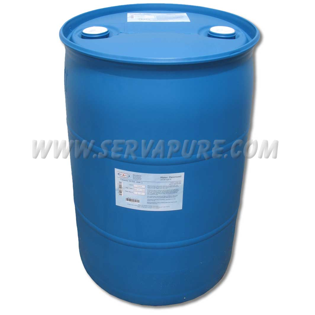 Serv A Pure Sap Di 55 55 Gallon Drum Of Deionized Water