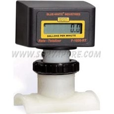 Blue-White RT-600S8-GPM1, 250 to 2500 GPM, 6'' IPS Pipe Size Paddlewheel Flowmeter, F-1000 Series