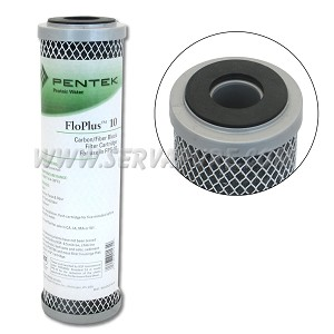 Pentek 455903-43, FloPlus-10 Carbon Filter, 2.5'' x 10''
