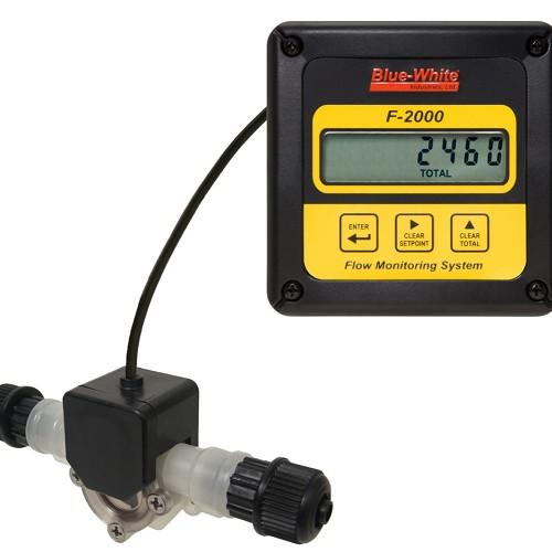 Blue-White FA1-400-1V, 10 to 100 OZ/MIN Micro-Flo Paddlewheel Flowmeter