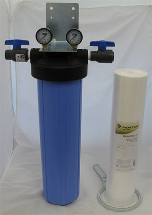 Serv-A-Pure 711002, BBFS-2-SED 20'' Big Blue Whole House Sediment Removal Water Filter System