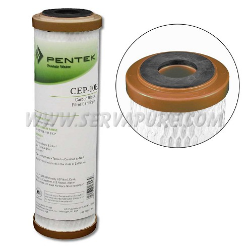 Pentek 155714, CEP-10E Thin Wall Coconut Carbon Block Filter, 2.5'' x 10''