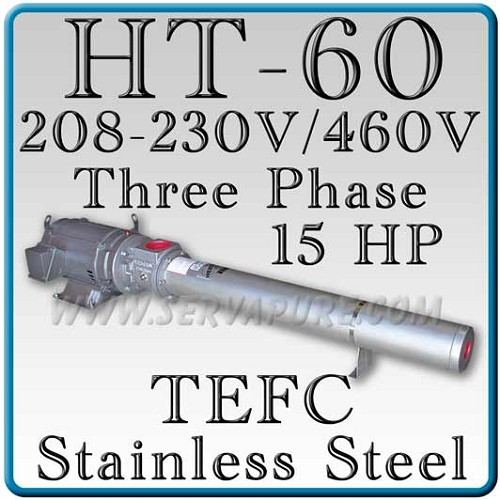 Webtrol H60B17S-3PHT Stainless Steel HT Series Booster Pump