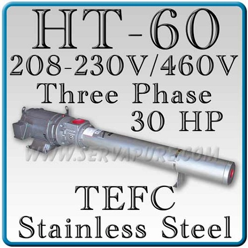 Webtrol H60B31S-3PHT Stainless Steel HT Series Booster Pump