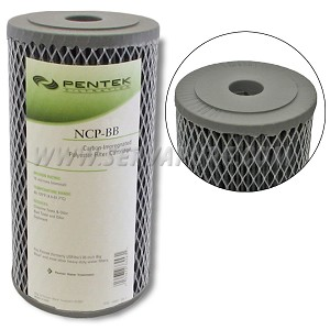 Pentek 155398, NCP-BB Pleated Carbon-Impregnated Polyester, 4.5'' x 10''