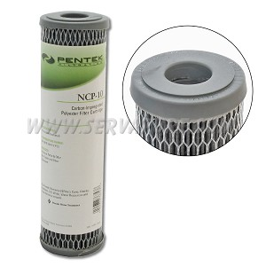 Pentek 155367, NCP-10 Pleated Carbon-Impregnated Polyester, 2.5'' x 10''
