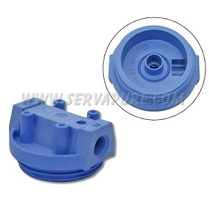 Pentek 154018, 3/4'' In/Out, Blue Cap No PR for #10 Clear Housings