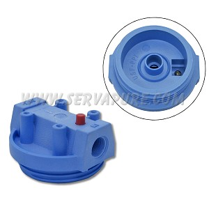 Pentek 154102, 3/4'' In/Out, Blue Cap w/ PR for #10 Clear Housing