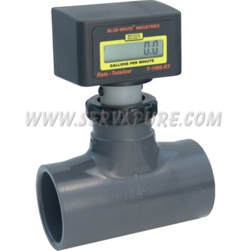 Blue-White RT-200AT-GPM1, 30 to 300 GPM, 2'' IPS Pipe Size Paddlewheel Flowmeter, F-1000 Series