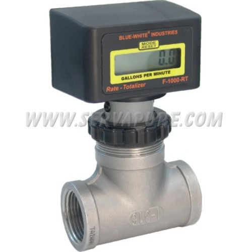 Blue-White RB-200ST-GPM1, 30 to 300 GPM, 2'' IPS Pipe Size Paddlewheel Flowmeter, F-1000 Series