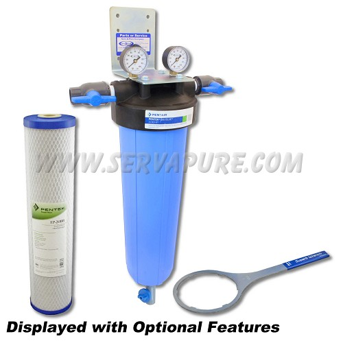 Serv-A-Pure 712002, BBFS-2-TOR 20'' Big Blue Whole House Taste/Odor Removal Water Filter System